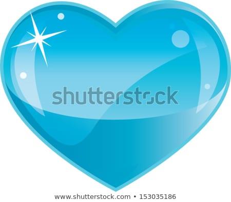хрупкий синий стекла сердце любви карт Сток-фото © aelice