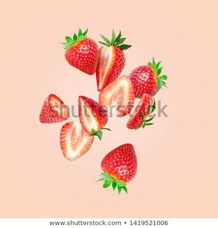 клубники белый чаши фрукты красный Сток-фото © aelice