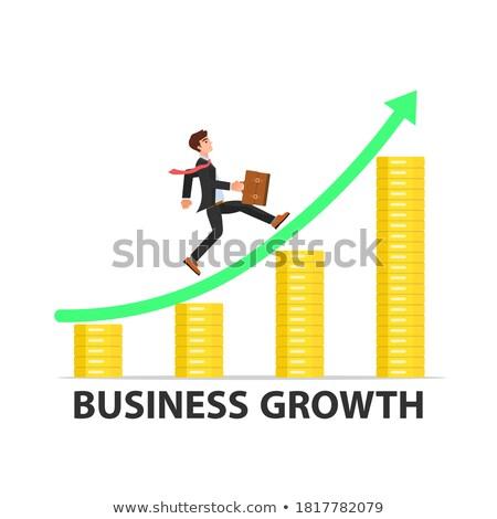 диаграммы бизнеса заседание зеленый деловые люди красный Сток-фото © aelice