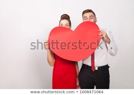большой красный сердце иллюстрация мало Сток-фото © aelice