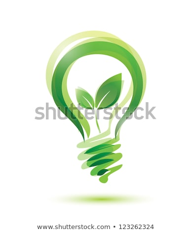 light bulb with a leaf inside stock photo © aelice