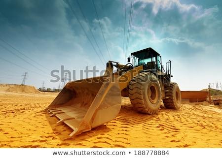 экскаватор машина строительство песок промышленности промышленных Сток-фото © aelice