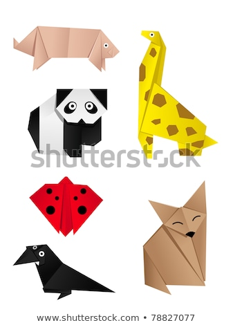 Otro origami animales vector animales papel Foto stock © DamonAce