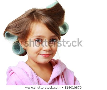 Long hair and hair curlers #5 | Isolated Stock photo © zakaz