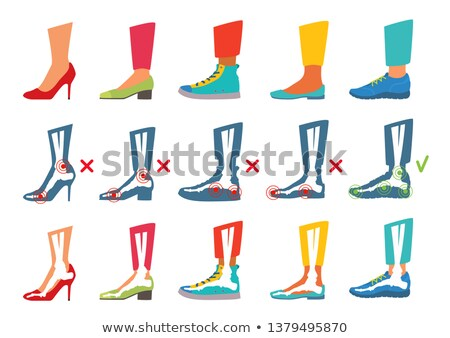 Shoes female set. Right foot | Isolated  Stock photo © zakaz