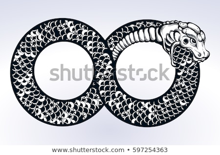 Ouroboros tattoo stock photo © sahua