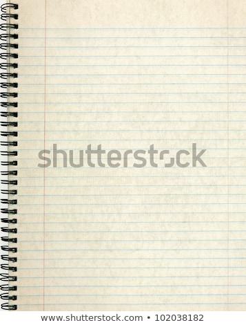 Oldalak öreg notebook papír háttér űr Stock fotó © latent