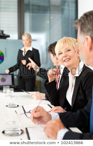 Foto stock: Círculo · negócio · trabalhar · empresário · homens