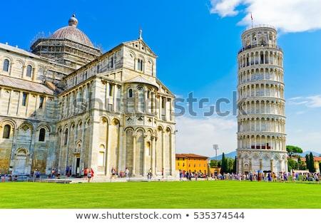 Toskana · İtalya · kule · heykel · melek - stok fotoğraf © ca2hill
