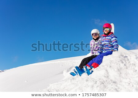 zon · blauwe · hemel · alpen · europese · winter · sneeuw - stockfoto © pkirillov