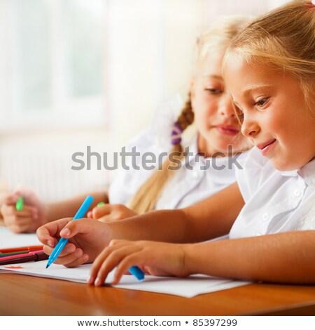 Stockfoto: Tekening · foto's · schrijven · brieven · kerstman