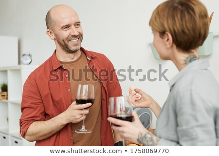 Couple tasting red wine Stock photo © photography33