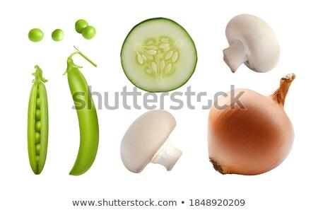 Champignon mantar yeşil paketlemek yalıtılmış Stok fotoğraf © Gertje