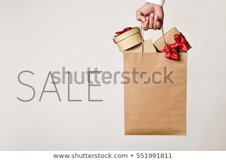 Stock photo: Sale rebate shopping bag