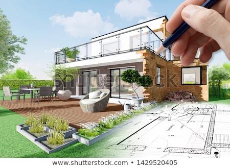 строительство · новый · дом · пригород - Сток-фото © Kacpura