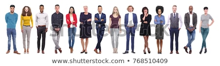 Full-body pose of smiling man Stock photo © stockyimages