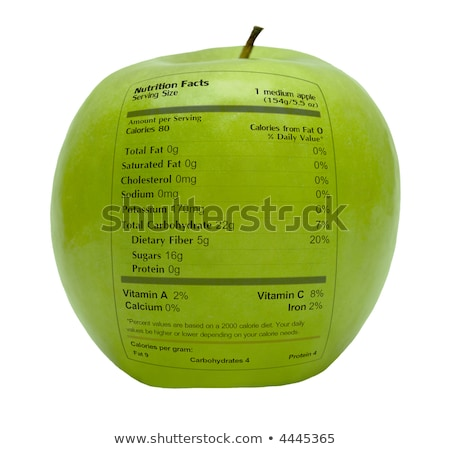 Nutritious Apple With Health Facts Stock photo © stuartmiles