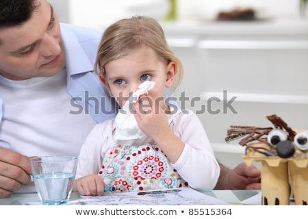 Dziewczynka hałasu strony twarz dziecko Zdjęcia stock © photography33