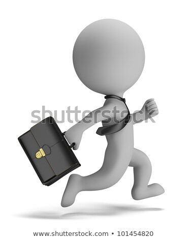 Stock photo: 3d small people - businessman running