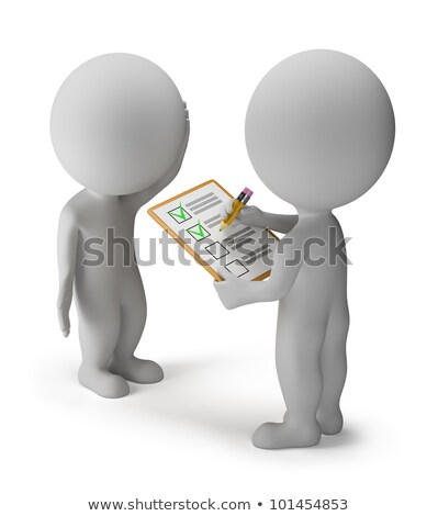 Stock photo: 3d small people - survey