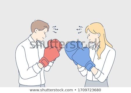 ビジネスマン · ボクシンググローブ · 白 · ビジネス · オフィス · 手 - ストックフォト © photography33