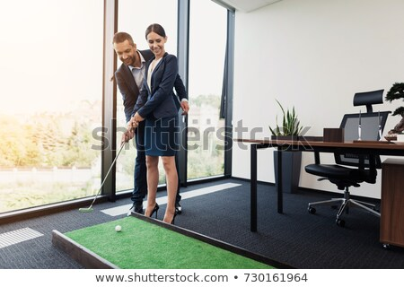 Man guiding his secretary Stock photo © photography33