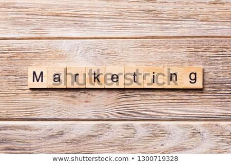 creative strategy - letters and block Stock photo © marinini