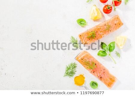 おいしい 鮭 ステーキ 新鮮な 魚 ストックフォト © mariematata