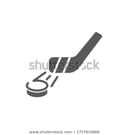 hokey · resim · yazı · minimalist · çalışma · pateni - stok fotoğraf © zooco