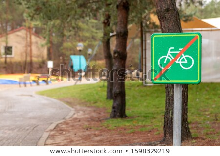 sign meaning 'Bicycle are not allowed here'  Stock photo © jakgree_inkliang