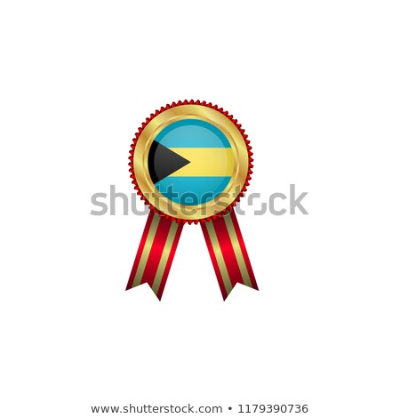 Bahamas rosette flag Stock photo © milsiart