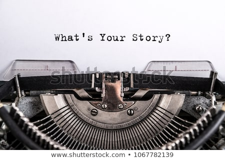 Stok fotoğraf: Typewriter What Is Your Story
