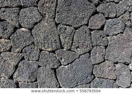 Lawa kamień czarny kamieniarstwo ściany Zdjęcia stock © lunamarina