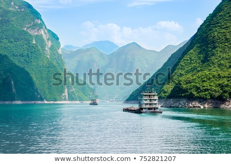 mountains at Yangtze River Stock photo © prill