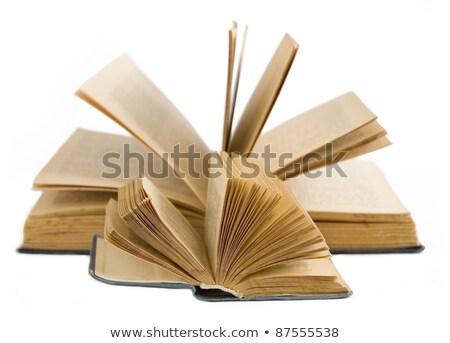 modası · geçmiş · büyük · kitaplar · yalıtılmış · beyaz · iş - stok fotoğraf © pzaxe