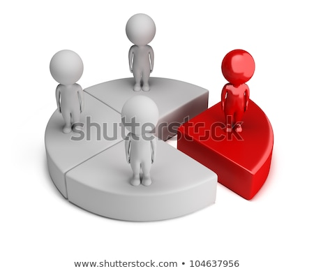 Stock photo: 3d small people - global business growth