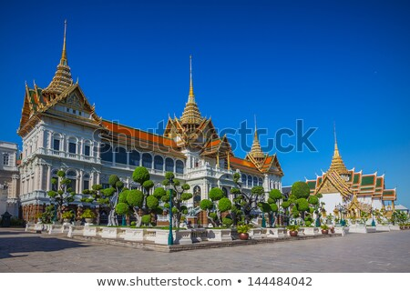 exterior of the buildings at grand palace bangkok thailand stock photo © moses