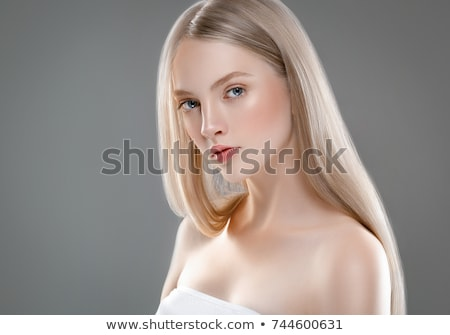 Young beautiful blonde with a nice manicure Stock photo © vlad_star