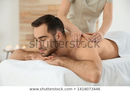 genç · omuzlar · adam · güzellik · masaj · dinlenmek - stok fotoğraf © ambro