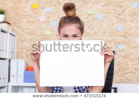 женщину · белый · совета · модный - Сток-фото © stockyimages
