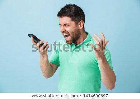 Uomo urlando telefono immagine nero Foto d'archivio © stevanovicigor