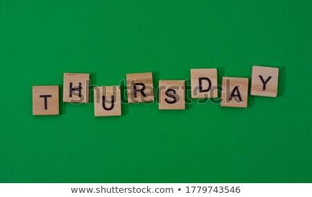 thursday in 3d wooden cubes banner Stock photo © marinini