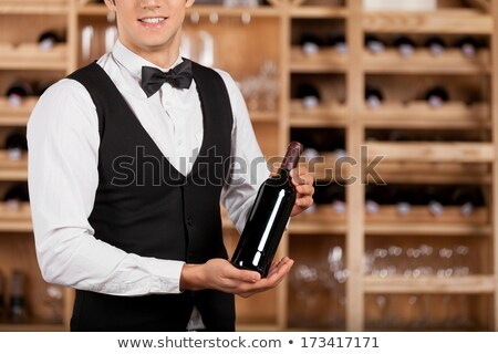 Sommelier presenting a wine Stock photo © photography33