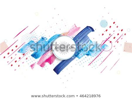 Vector color blots - set of elements for design Stock photo © pzaxe