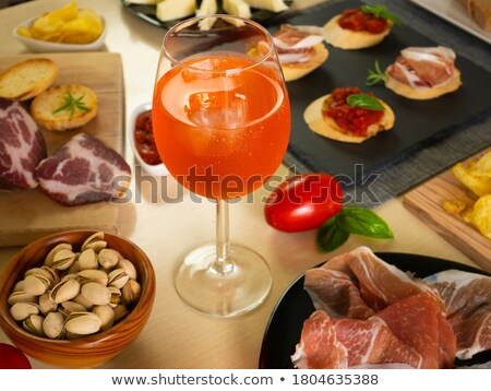 Ice cube and salami stock photo © Givaga