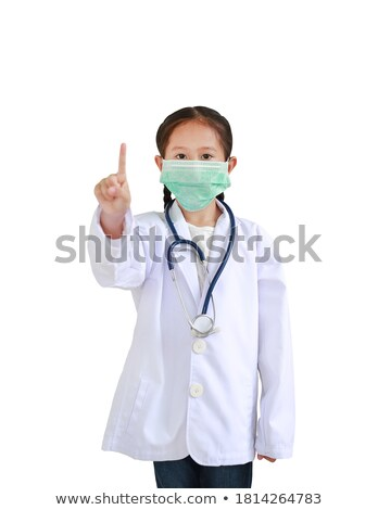noir · stéthoscope · isolé · blanche · médecin · santé - photo stock © get4net