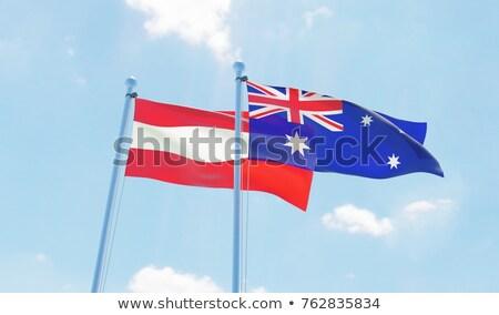 Austrália Áustria mundo australiano bandeira Foto stock © ruskpp