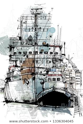 Eski deniz liman sovyet şimdi müze Stok fotoğraf © michey