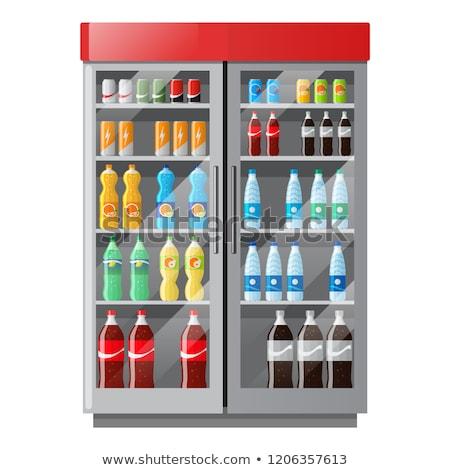 Refrigerator Coca Cola Stok fotoğraf © MarySan