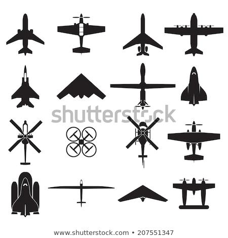 militar · aeronave · silhueta · vetor · reflexão · homem - foto stock © vadimmmus